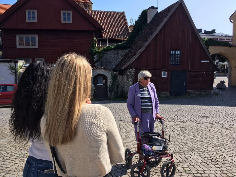 Visby Gotland guidad tur tips resa Gertrud
