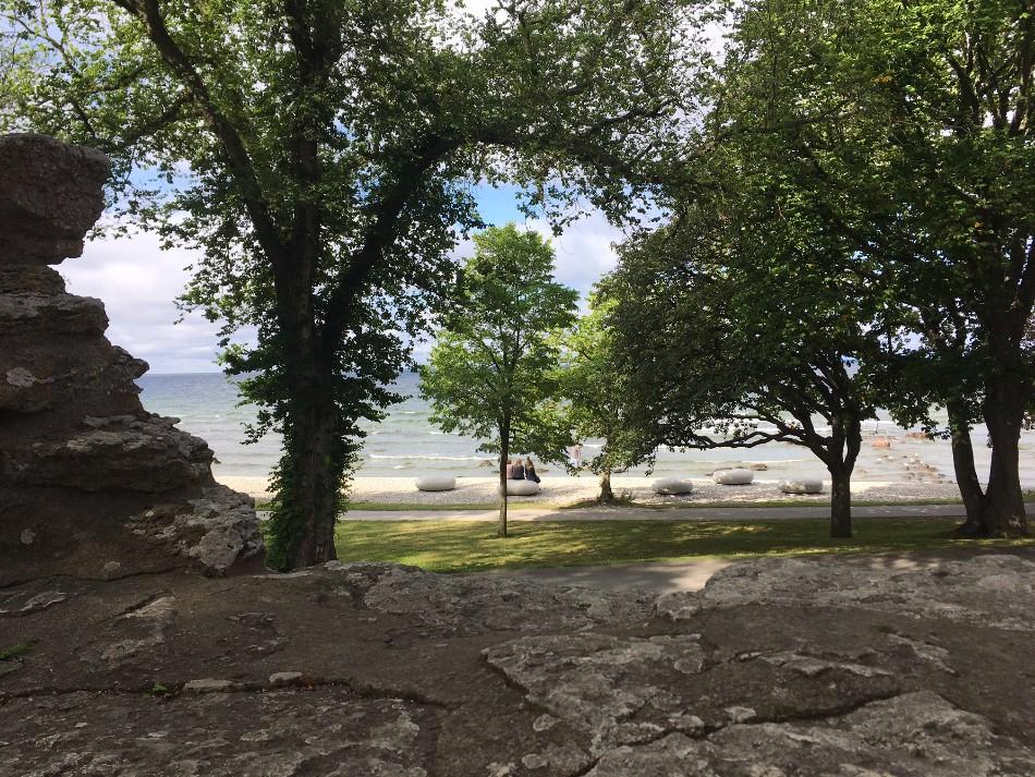 Visby Gotland strandpromenad restips
